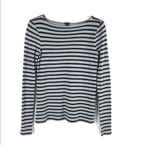 J. Crew Striped Boatneck Tunic Top Long Sleeve